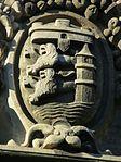 Flensburger Wappen am Hauptportal der Auguste-Viktoria-Schule (Flensburg), Bild 2.JPG
