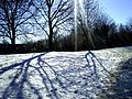 Flickr - ronsaunders47 - SNOW,FOOTPRINTS AND A RAY OF SUNSHINE. WARRINGTON CHESHIRE. UK..jpg