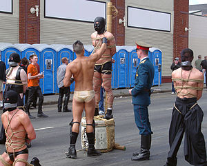 Folsom Street Fair - Bondage demonstration with Van Darkholme at the 2003 Folsom Street Fair