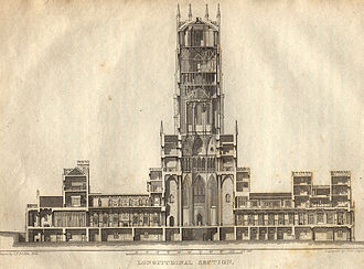 Fonthill Abbey - Cross section of the Abbey (Rutter, 1823)