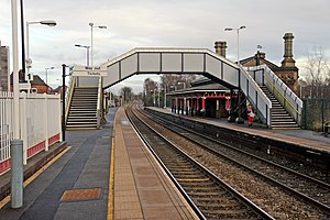 Earlestown railway station - Earlestown station buildings viewed from platform 1