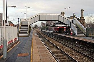 Earlestown railway station - Earlestown station buildings viewed from platform 1