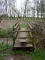 Footbridge on the Gipping path - geograph.org.uk - 1779052.jpg