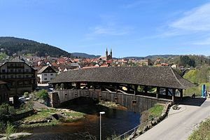 Forbach (Baden) - The covered wooden bridge of Forbach