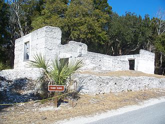 Fort George Island Cultural State Park - Tabby ruins