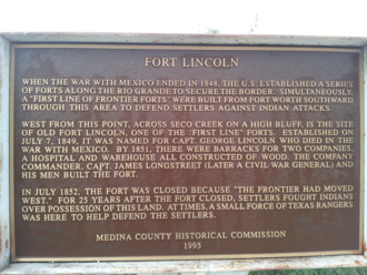 Fort Lincoln, Texas - Historical Marker