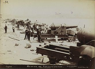 Fort Coligny - Naval guns in the old Fortress of Villegagnon, in 1898