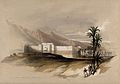 Fortress at the Gulf of Akabah, on the Red Sea. Coloured lit Wellcome V0049440.jpg