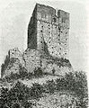 Fortunago avanzi del castello, lato di fianco xilografia di Barberis.jpg