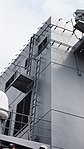 Forward funnel's ladder of JS Fuyuzuki(DD-118) right rear low-angle view at JMSDF Maizuru Naval Base July 29, 2017.jpg