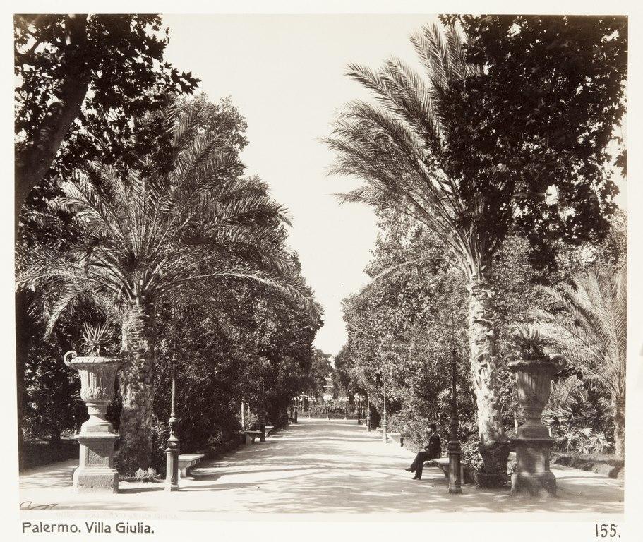 Jardin de la Villa Giulia à Palerme - Photo de 1888