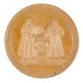 Framsida av medalj med Luther, 1830 - Skoklosters slott - 99304.tif