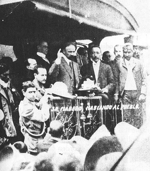 Francisco I Madero campaigning