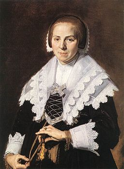 Frans Hals - Portrait of a Woman Holding a Fan - WGA11135