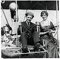 Frederick Rodman Law and Ruth B. Law in their Wright Model B flyer circa 1910-1915.jpg
