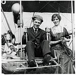 Frederick Rodman Law and Ruth B. Law in their Wright Model B flyer circa 1910-1915.jpg