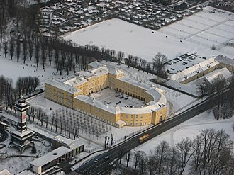 Frederiksberg Palace in winter Frederiksberg Palace from above (winter).JPG