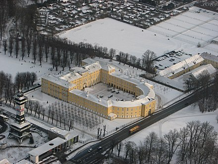 Frederiksberg Palace in the snow Frederiksberg Palace from above (winter).JPG