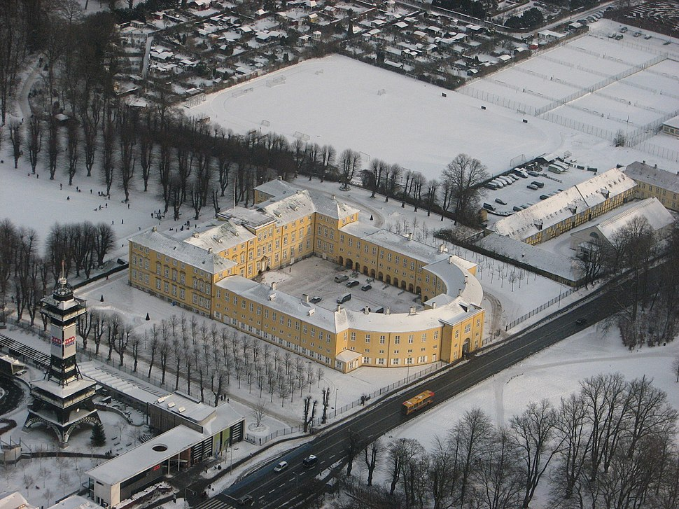 Frederiksberg Palace from above (winter)
