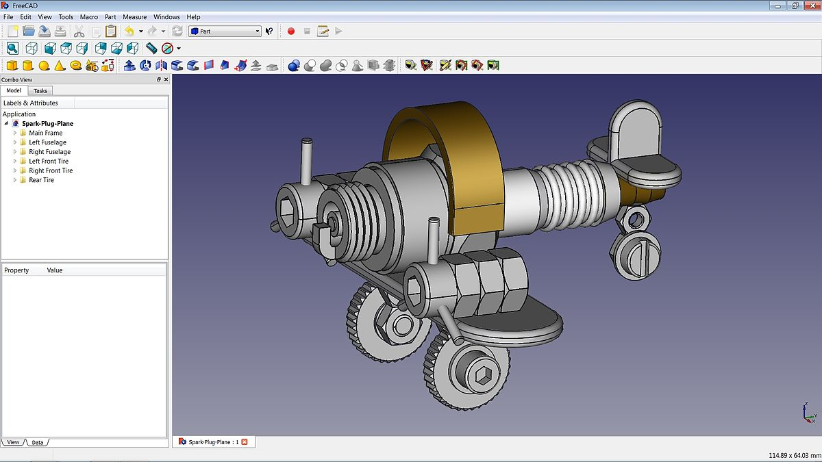 Freecad wikipedia la enciclopedia libre for Cad 3d free italiano
