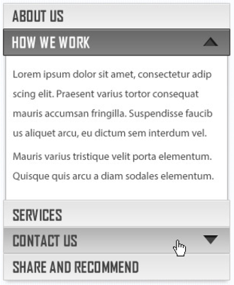 Accordion (GUI) - Accordion widget