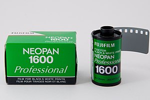 Neopan - The Fujifilm Neopan 1600 B/W film for 35mm cameras