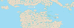 Fury and Hecla Strait - Map showing Fury and Hecla Strait, Nunavut, Canada with Igloolik to the east.