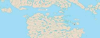 Arctic strait below northwest Baffin Island, Nunavut, Canada