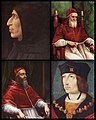G. Savonarola, Pope Julius II, Pope Clement VII and King Charles VIII.jpg