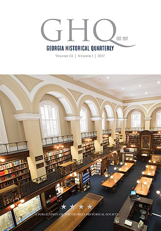 Georgia Historical Society - Cover of Georgia Historical Quarterly, Volume CI, Number 1