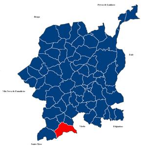Moreira de Cónegos Civil parish in Norte, Portugal
