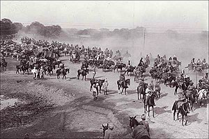 Trade route - For centuries, the Grand Trunk Road has served as the main artery for travel across Northern India. A scene from the Ambala cantonment during the days of the British Raj.