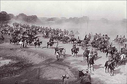 For centuries, the Grand Trunk Road has served as the main artery from travel across northern India. A scene from the Ambala cantonment during the British Raj. - Sher Shah Suri