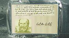 Iscrizione dedicata a Galileo, presente sulla sonda Juno. Il testo dice: