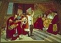 Galileo presenta il telescopio al Senato veneziano radunato sul campanile di S. Marco a Venezia, affresco di Luigi Sabatelli, Tribuna di Galileo, Firenze.jpg