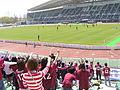 Game of jfl done in Momotaro stadium 2008.4.JPG