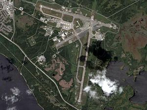 Gander International Airport - Image: Gander International Airport (satellite view)