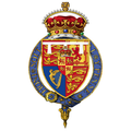 Garter-encircled Arms of Charles, Prince of Wales.png