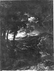 Italienische Landschaft mit Elias und dem Engel (Kopie nach)