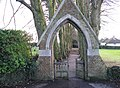 Gateway to Tillington graveyard - geograph.org.uk - 1640073.jpg