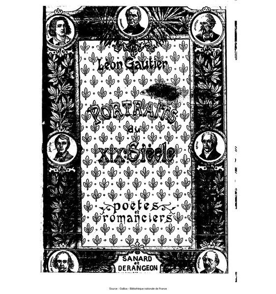 File:Gautier - Portraits du XIXe siècle, Poëtes et romanciers.djvu