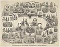 Gedenkplaat bij het 25-jarige regeringsjubileum van koning Willem III 1849-1874 Herinnering aan ons geliefd oud Stamhuis Oranje Nassau (titel op object), RP-P-1933-126.jpg