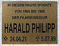Gedenktafel Kudowastr 15 (Schmd) Harald Philipp.JPG