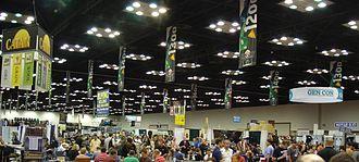 Gen Con - Part of the exhibit hall space during Gen Con Indy 2010.