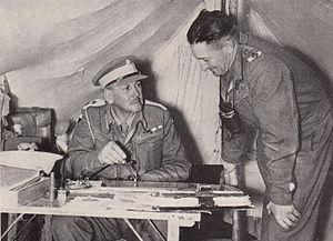 George Brink - Gen George Brink in the Western Desert (seated) 1941