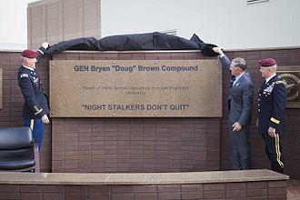 """Bryan D. Brown - The dedication ceremony for renaming the 160th SOAR compound the """"GEN Bryan """"Doug"""" Brown Compound"""""""