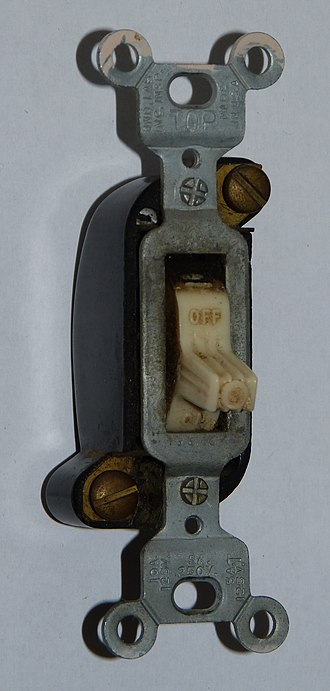 "Switch - A ""T-rated"" wall switch (the T is for Tungsten filament) that is suited for incandescent loads."