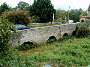 Monmouth Rebellion - The old Keynsham bridge seen in 2011. The course of the river has been diverted