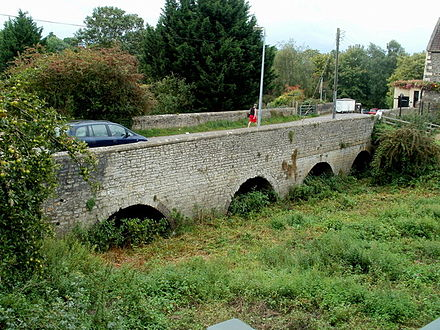 The old Keynsham bridge seen in 2011. The course of the river has been diverted Geograph 3177323 old Keynsham bridge.jpg
