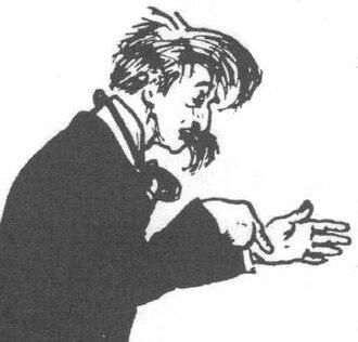 George Charles Haité - 1899 London Sketch Club cartoon of Haité by Dudley Hardy